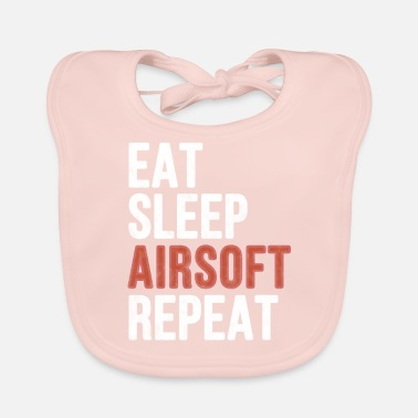 Airsoft Eet slaap Airsoft Repeat - Funny Gift - Bio-slabbetje voor baby's