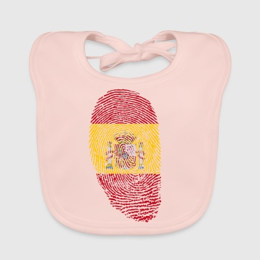 Spanish Spain fingerprint gift spanish spanish - Baby Organic Bib