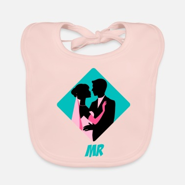 Bride And Groom bride and groom - Baby Organic Bib
