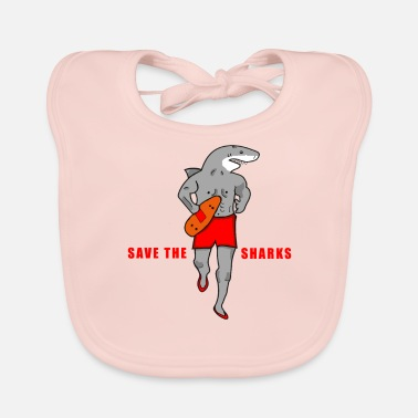 Save The Sharks Save the Sharks | Lifeguard | Diver - Baby Bib