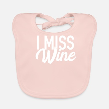 Pregnancy Announcement I Miss Wine Pregnancy Pregnancy Announcement - Baby Organic Bib