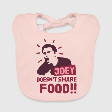 Joey-doesnt-share-food-red - Baby Organic Bib
