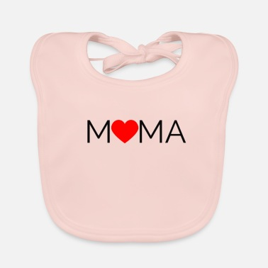 I Love Mama Mama: I love Mama design. Ideal gift for Mom - Baby Bib