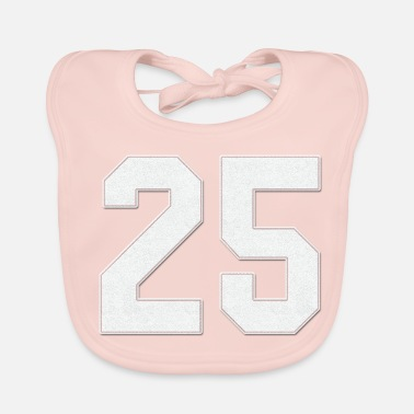 Jersey Number Baseball sports jersey number / Jersey Number 25 - Baby Bib
