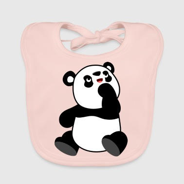 Cute Curious Cartoon Panda by Cheerful Madness!! - Baby Organic Bib