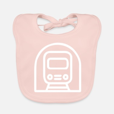 Railway Railway in the tunnel - Baby Organic Bib