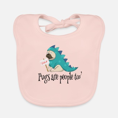 Mopshond Pug Pugmom dogowner Dog Animal Cute DragonLove - Bio-slabbetje voor baby's