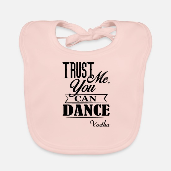 Cccp Babykleidung - sticker trust me you can dance vodka - Lätzchen Rose