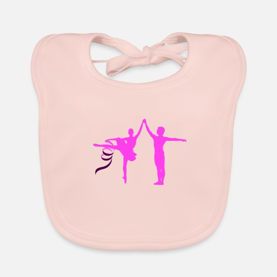 Flowers Baby Clothes - Ballet Dancer Dance Dancer Jumpstyle Guards Dance - Baby Bib rose