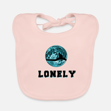 Lonely Lonely Cat / Lonely Cat Gift - Baby Organic Bib