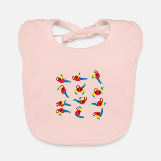 Rest Baby Clothes - Parrots doing yoga - Baby Bib rose