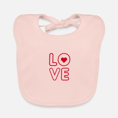 Love Love Love Heart In Love Love Loving Gift - Śliniaczek