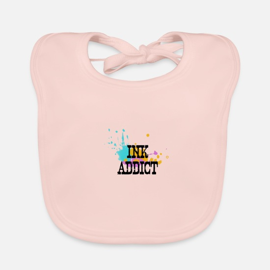 Gift Idea Baby Clothes - Ink addict - Baby Bib rose