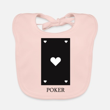 Cards poker card - Ekologisk babyhaklapp