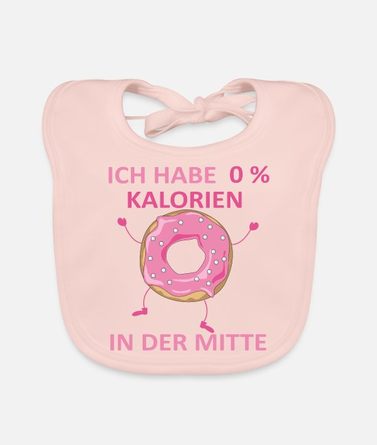 Birthday Baby Clothes - Donut gift no calories in the middle pink - Baby Bib rose