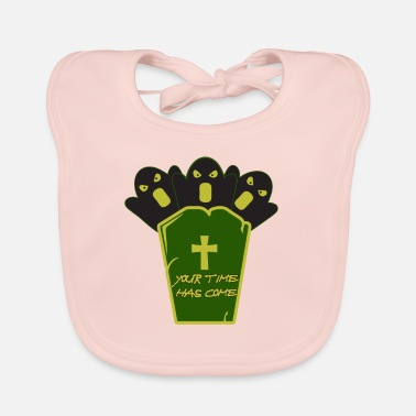 Grave Halloween on a grave - Halloween with a grave - Baby Bib