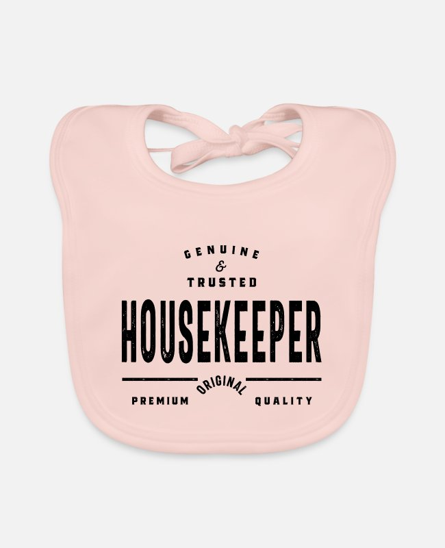 Profession Baby Bibs - Housekeeper - Baby Bib rose