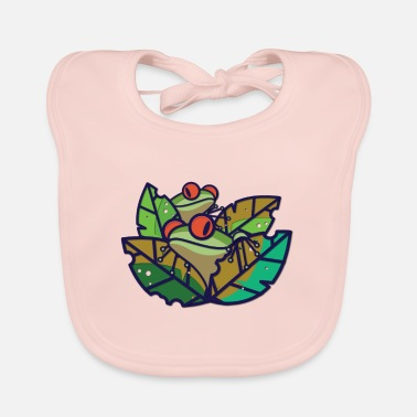 Frog Frog - frogs in the pond - Baby Bib
