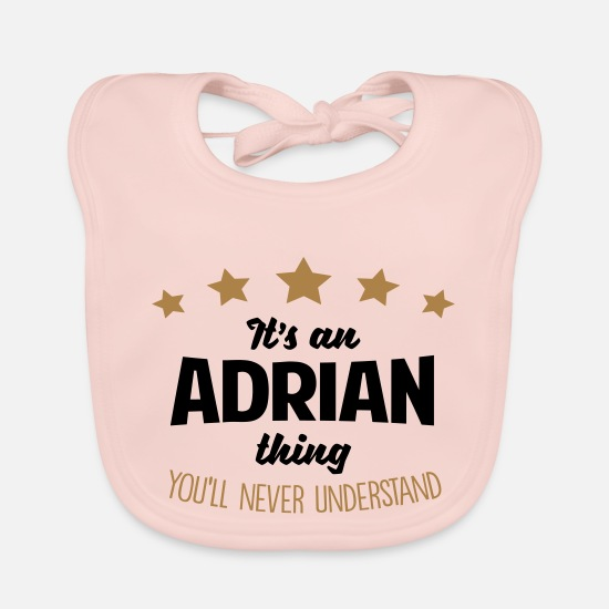 Adrian Baby Clothes - It's an adrian name thing stars never und - Baby Bib rose
