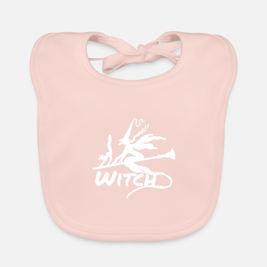 Witches Broom Baby Clothes - Witch Witch - Baby Bib rose