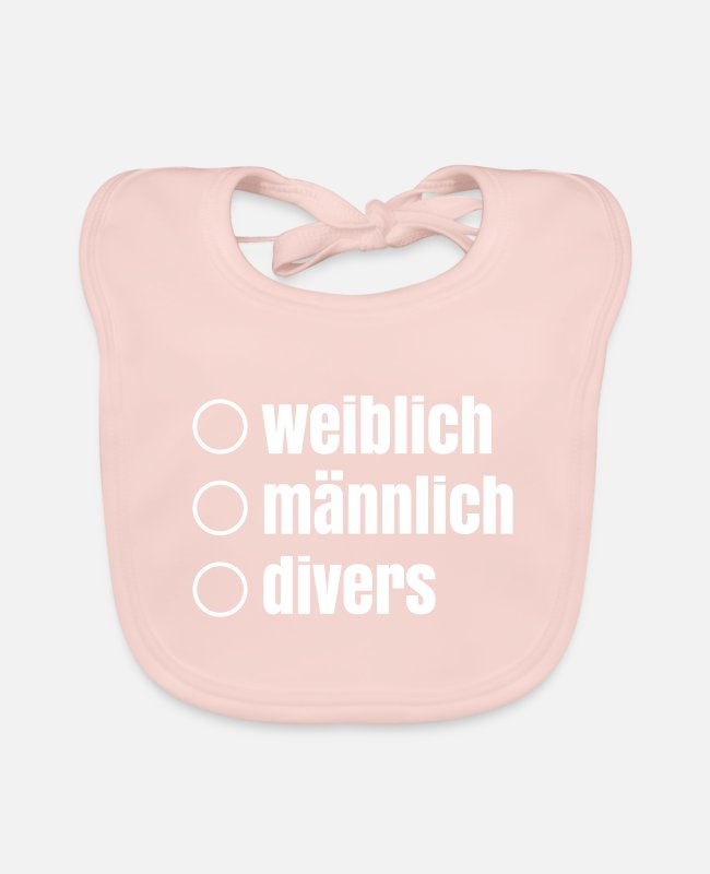 Friends Baby Bibs - female male diverse third gender gender - Baby Bib rose