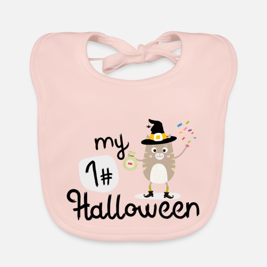 Play Baby Clothes - My First Halloween Cat witch Sb8x4 - Baby Bib rose