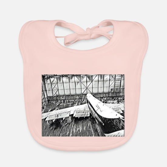 Flight Baby Clothes - Aircraft 1 - Baby Bib rose