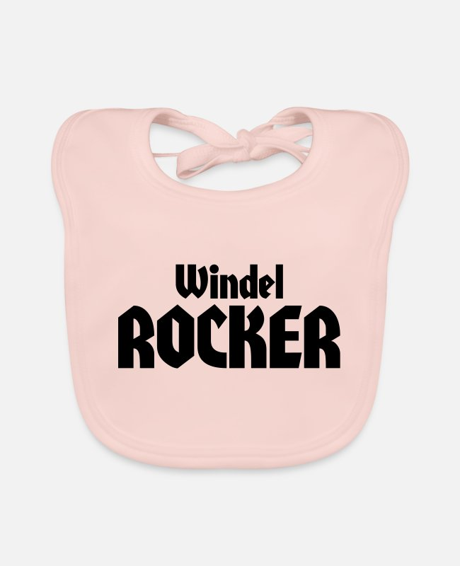 Offspring Baby Bibs - diaper rocker - Baby Bib rose