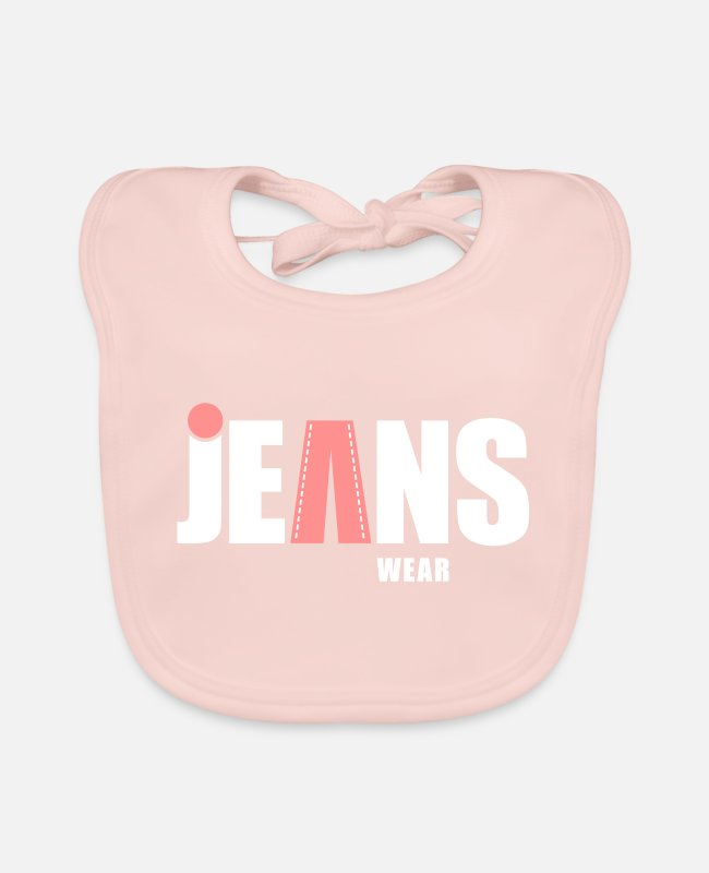 Torn Baby Bibs - jeans wear_dot - Baby Bib rose