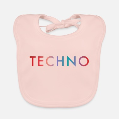 Deejay Techno Logo Colorful Festival Shirt Gift - Baby Bib