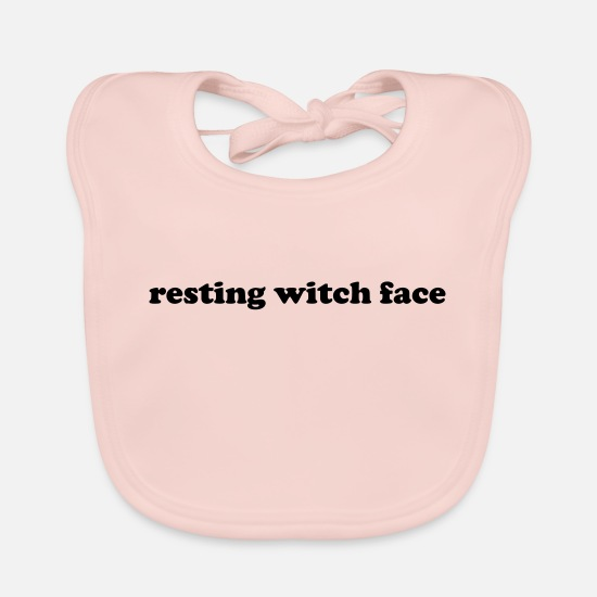 Magic Baby Clothes - Resting witch face - Baby Bib rose