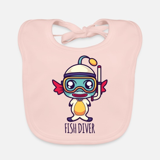 Diver Baby Clothes - Fish Diver - Baby Bib rose