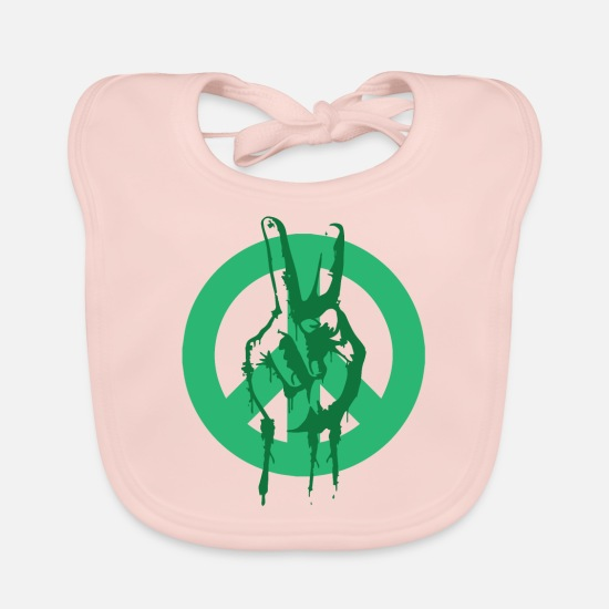 Love Baby Clothes - Peace Peace Peace Sign - Baby Bib rose