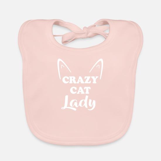 Soft Kitty Baby Clothes - Crazy Cats Woman T-Shirt Crazy Cat Lady Shirt - Baby Bib rose