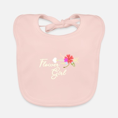 Flower Flower girl - Baby Bib