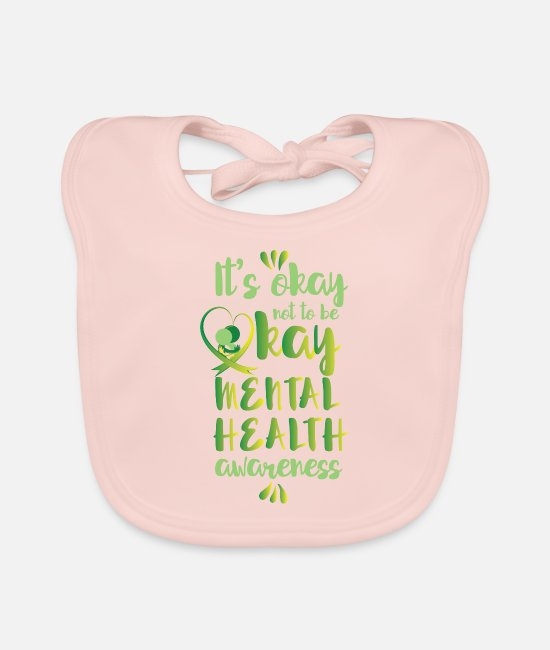 Psyche Baby Clothes - It's okay not to be okay - mental health awareness - Baby Bib rose
