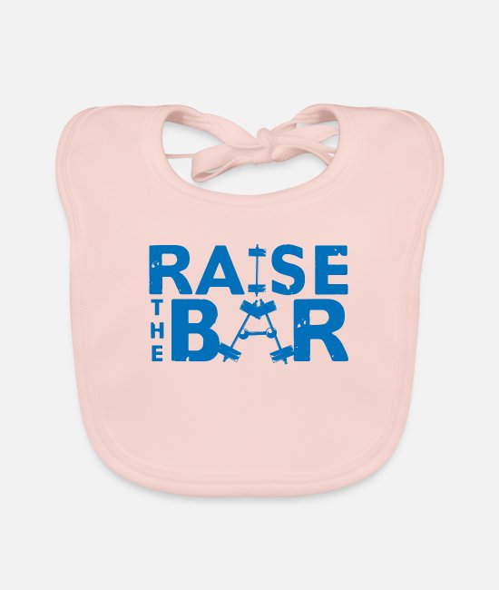 Iron Baby Clothes - Raise the bar - Baby Bib rose