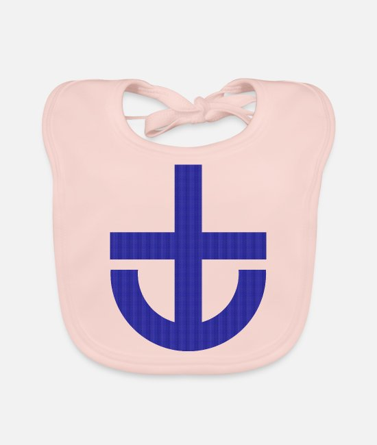 Harbour Baby Clothes - Anchor minimal - Baby Bib rose