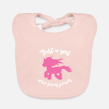 Equitation Pony to fall in love - Baby Bib