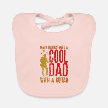 Bass Player Never underestimate A Cool Dad with a Guitar Gift - Baby Bib
