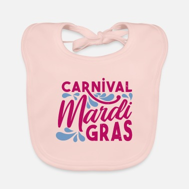 Fastelavn Carnival Mardi Gras saying celebration camels - Baby Bib