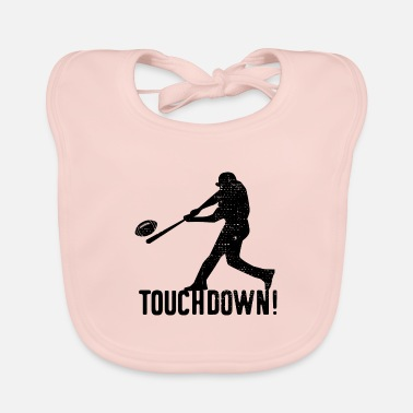 Pitch Baseball Touchdown Funny Humor - Baby Bib