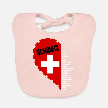 Canton Switzerland Love and Cantons know - Baby Bib