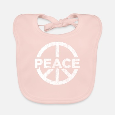 Global Peace Peace globalization peace sign - Baby Bib