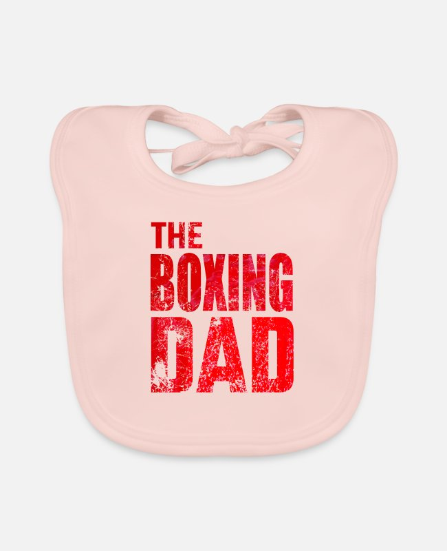 Martial Arts Baby Bibs - Boxing Boxing Dad Martial Arts Saying Gift - Baby Bib rose