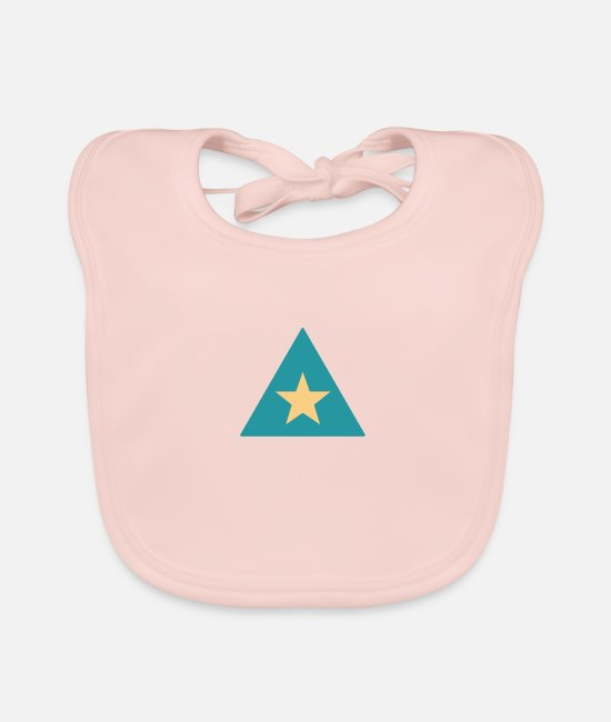 Star Baby Bibs - Triangle star - Baby Bib rose