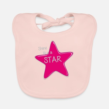 Shine Like A Unicorn Shine like a star - rays like a star - Baby Bib