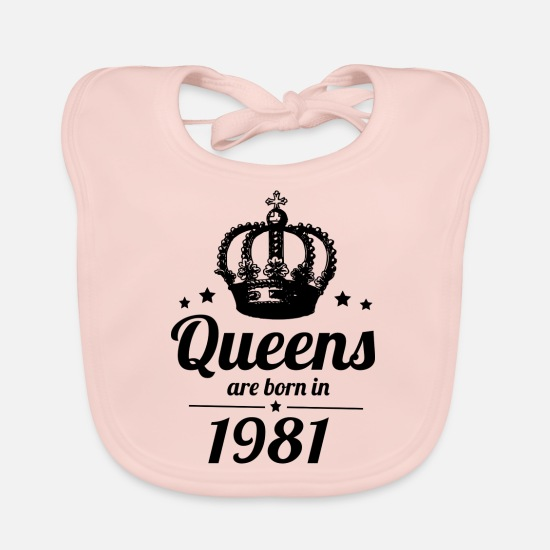 1981 Baby Clothes - Queen 1981 - Baby Bib rose
