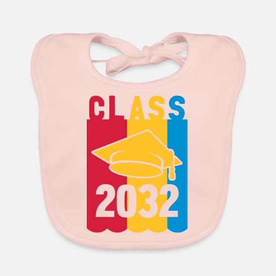First Day Of School Baby Clothes - Class of 2032 - Baby Bib rose