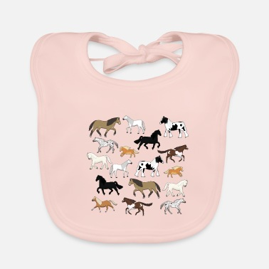 Messed Up Horses are messed up - Baby Bib